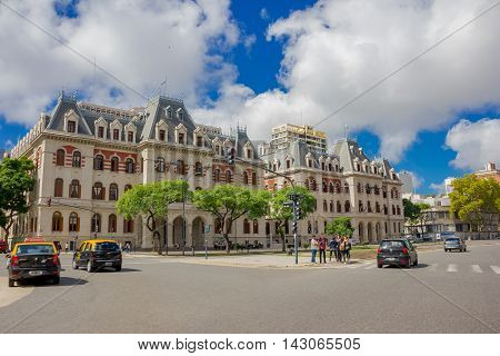 BUENOS AIRES, ARGENTINA - MAY 02, 2016: paseo colon aveneu is one of the most important streets in the historical center of buenos aires.