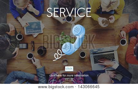 Service Customer Aid Support Utility Assistance Concept