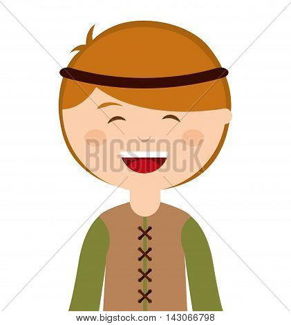 manger character cartoon isolated icon vector illustration design vector illustration design