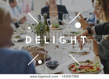 Discussion Diner Delight Eating Family Time Concept