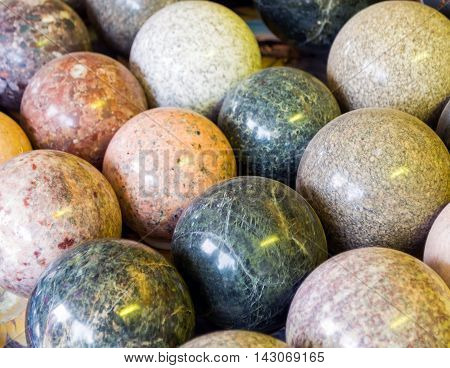 Stone Balls With Different Colors