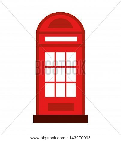 cab telephone isolated icon vector illustration design