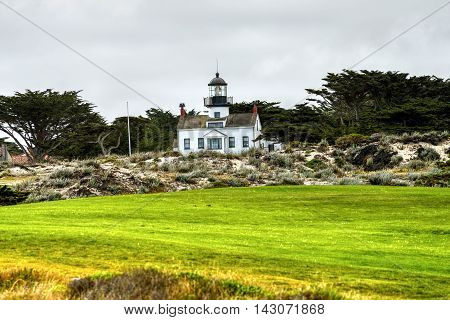 Point Pinos Lighthouse Asilomar California oldest continually in use lighthouse on west coast of United States