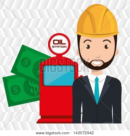 man dispenser gasoline vector illustration graphic eps 10