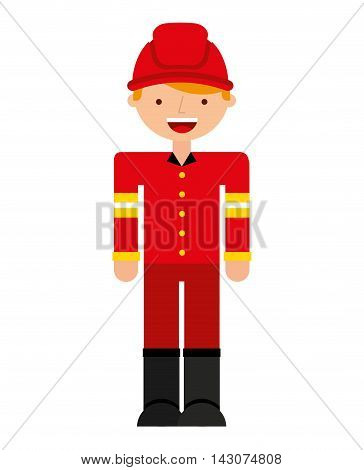 fire fighter character isolated icon vector illustration design