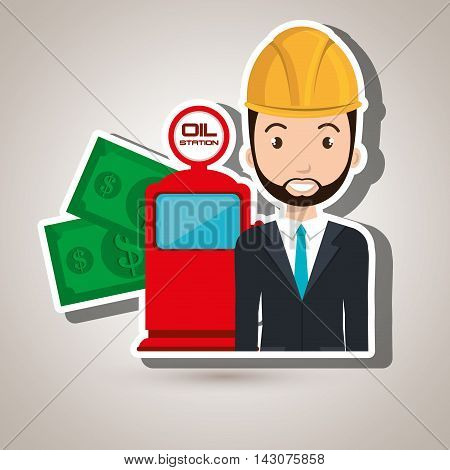 man dispenser gasoline vector illustration graphic eps 10