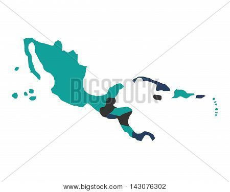 central american map isolated icon vector illustration design