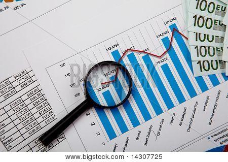 gráficos y tablas financieras