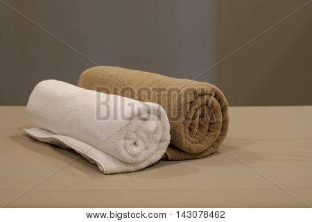Towels On Massage Bed