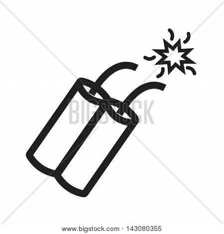 Cowboy, grenade, dynamite icon vector image. Can also be used for wild west. Suitable for mobile apps, web apps and print media.