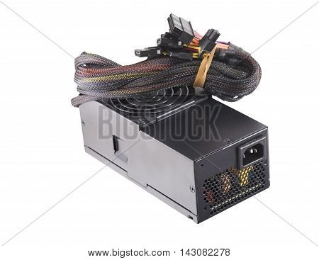 Computer Power Supply Unit Isolated On White Background