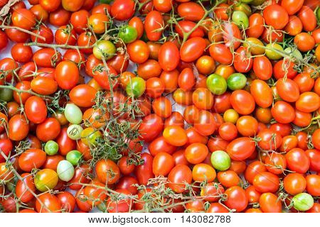 Tomatoes at a market in Palermo, Sicily