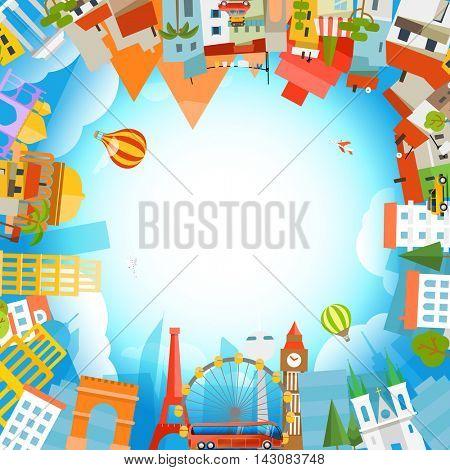 Travel concept vector illustration. Summer vacation