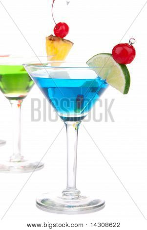 Top Martini Cocktails Drinks Composition