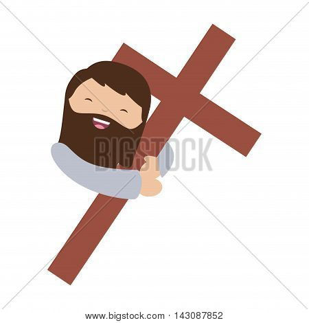 jesuschrist character isolated icon vector illustration design