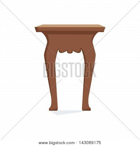 Chair vector illustration. Cartoon stool isolated on white