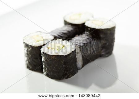 Japanese Cuisine - Cucumber Sushi Roll