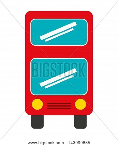 bus vehicle transport isolated icon vector illustration design
