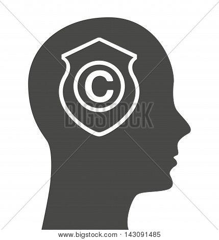 copyright profile isolated icon vector illustration design