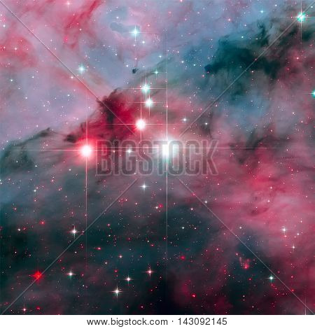 WR 25 is a Wolf-Rayet star in the turbulent star forming region Carina Nebula. It is consist in the Trumpler 16 cluster. Retouched colored image. Elements of this image furnished by NASA.