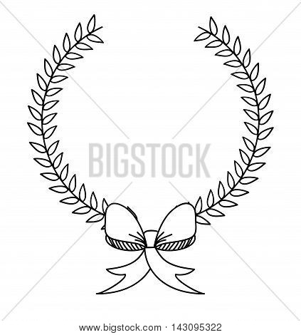 ribbon bown isolated icon vector illustration design