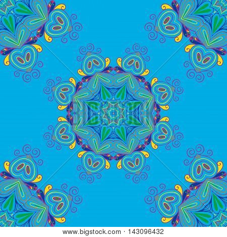 Seamless pattern. Vintage decorative elements. Islam, Arabic, Indian, ottoman motifs. Perfect for printing on fabric or paper.