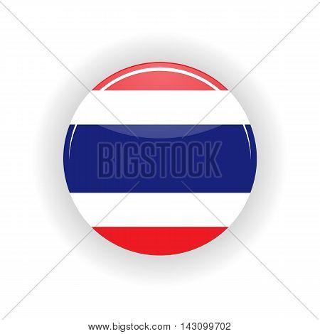 Thailand icon circle isolated on white background.Bangkok icon vector illustration