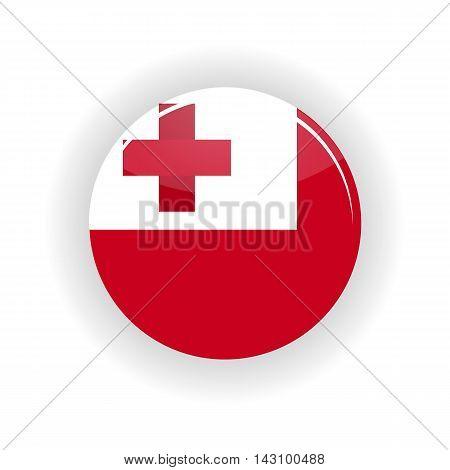 Tonga icon circle isolated on white background. Nuku alofa icon vector illustration