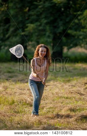 Girl With Butterfly Net