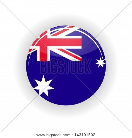 Australia icon circle isolated on white background. Canberra icon vector illustration