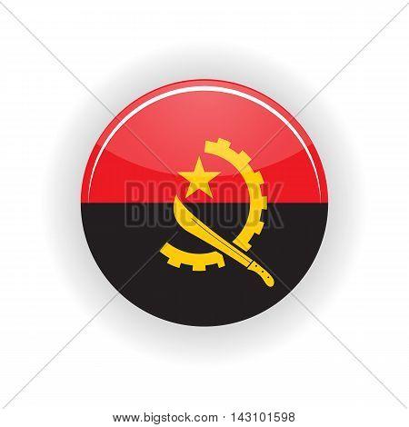Angola icon circle isolated on white background. Luanda icon vector illustration