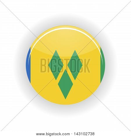 Saint Vincent and Grenadines icon circle isolated on white background. Kingstown icon vector illustration
