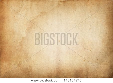 Old stained grunge paper background for the design.