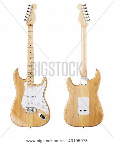 Electric Guitar Front View, Rear .