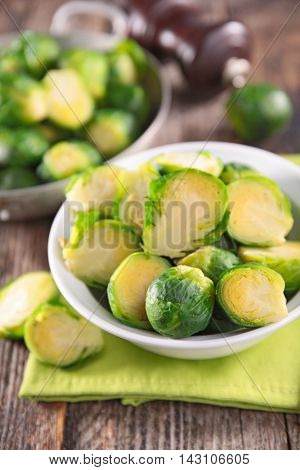 raw brussel sprout