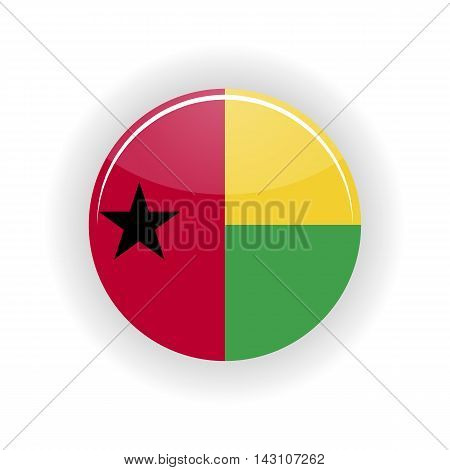 Guinea Bissau icon circle isolated on white background. icon vector illustration