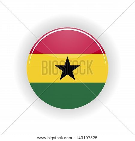 Ghana icon circle isolated on white background. Accra icon vector illustration