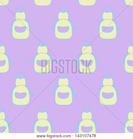 illustration of isolated apron on a white background. seamless Cute Colorful vector illustration. the concept of cooking food preparation website recipes learning cooking the icon for cooks