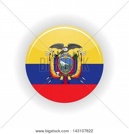 Ecuador icon circle isolated on white background. Quito icon vector illustration