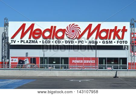 CIRCA AUGUST 2016 - GDANSK:  logo of Media Markt. Media Markt is a German chain of stores selling consumer electronics. First store was opened in 1979 in Munich.