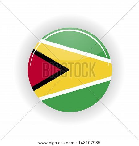 Guyana icon circle isolated on white background. Georgetown icon vector illustration