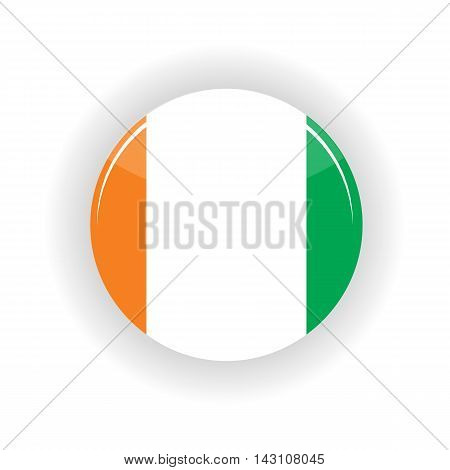 Ivory Coast icon circle isolated on white background. Yamoussoukro icon vector illustration