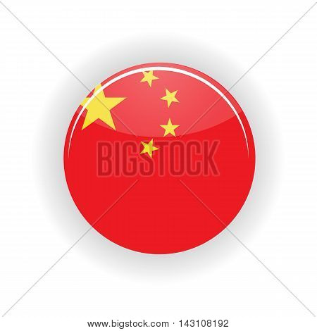 China icon circle isolated on white background. Peking icon vector illustration