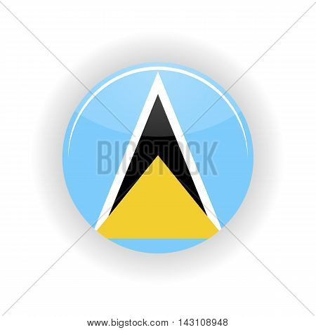 Saint Lucia icon circle isolated on white background. Castries icon vector illustration