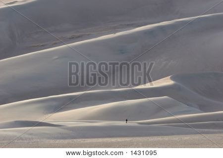 Man In Great Sand Dunes National Park
