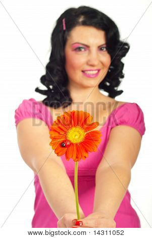 Woman Offering You Flower
