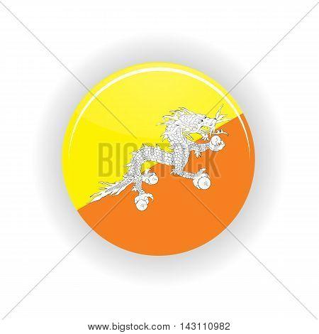 Butane icon circle isolated on white background. Thimphu icon vector illustration