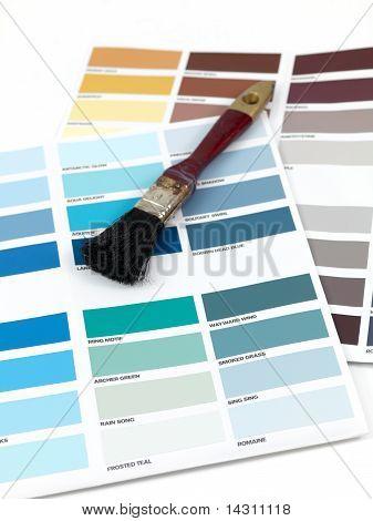 Carta de color de la pintura