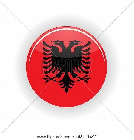 Albania icon circle isolated on white background. Tirana icon vector illustration
