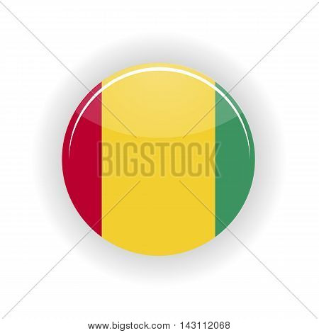 Guinea icon circle isolated on white background. Conakry icon vector illustration